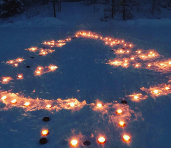 Suomen nuorisokeskuksissa julistettiiin lasten joulurauha