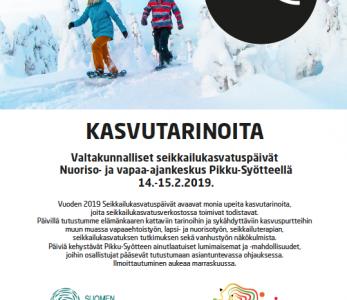 Valtakunnalliset Seikkailukasvatuspäivät Nuorisokeskus Pikku-Syötteellä 14.–15.2.2019